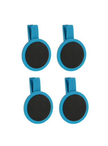 4 petites ardoises rondes turquoise