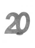 Chiffre anniversaire 20 argent