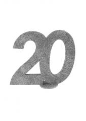 1 Chiffre anniversaire 20 argent