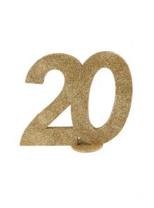 1 Chiffre anniversaire 20 or