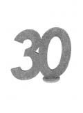 1 Chiffre anniversaire 30 argent