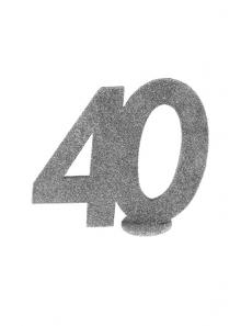 1 Chiffre anniversaire 40 argent