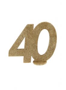 1 Chiffre anniversaire 40 or