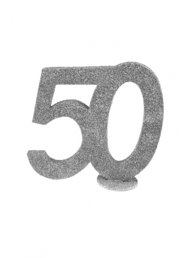 1 Chiffre anniversaire 50 argent