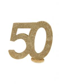 1 Chiffre anniversaire 50 or