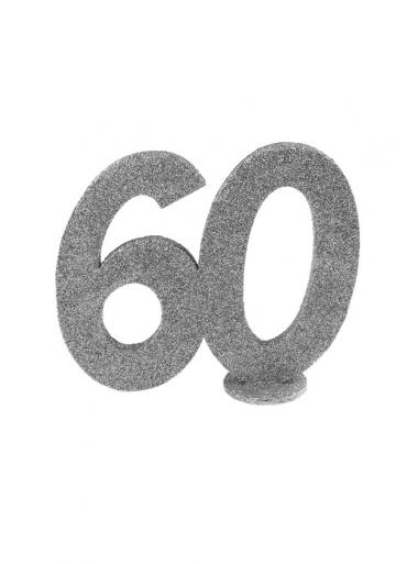 1 Chiffre anniversaire 60 argent
