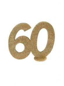 1 Chiffre anniversaire 60 or