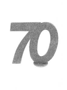 1 Chiffre anniversaire 70 argent