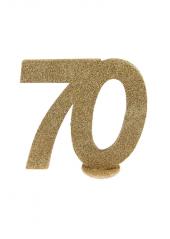 1 Chiffre anniversaire 70 or