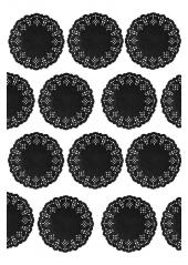 10 napperons sous verre ARDOISE 10cm