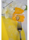 10 Sous assiettes FIBRE jaune