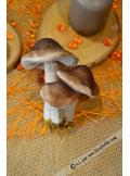 3 mini champignons taupe 8cm