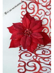 1 Poinsettia bordeaux 25cm