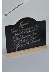 1 marque table noir ardoise