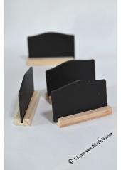 4 marque places noir ardoise