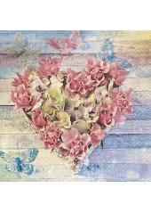 20 Serviettes Fleurs Rétro