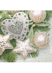 20 Serviettes Belle Nuit de Noel