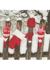 20 Serviettes papier Noel sous la neige