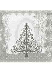 20 Serviettes Sapin de Noel baroque