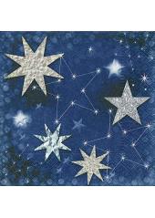 20 Serviettes papier Ciel étoilé