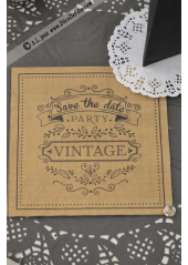 20 Serviettes RETRO vintage party