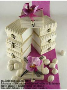 6 boites à secret blanc cassé