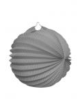 1 Lampion rond GRIS 20 cm