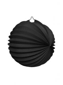 1 Lampion rond NOIR 20 cm