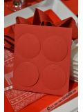 12 Etiquettes rondes rouge