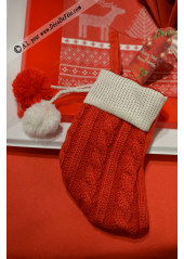 1 chaussette TRICOT rouge