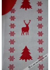 5M chemin de table LIN rennes rouge