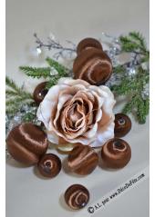 10 boules SATIN CHOCOLAT