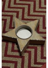 1 Bougeoir étoile bois