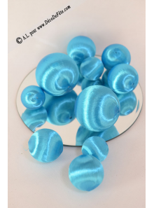 10 boules SATIN TURQUOISE