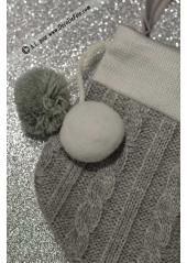 1 chaussette TRICOT gris