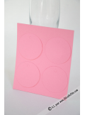 12 Etiquettes rondes rose