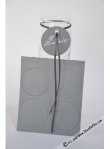 12 Etiquettes rondes gris