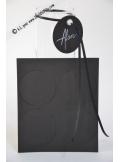 12 Etiquettes rondes noir