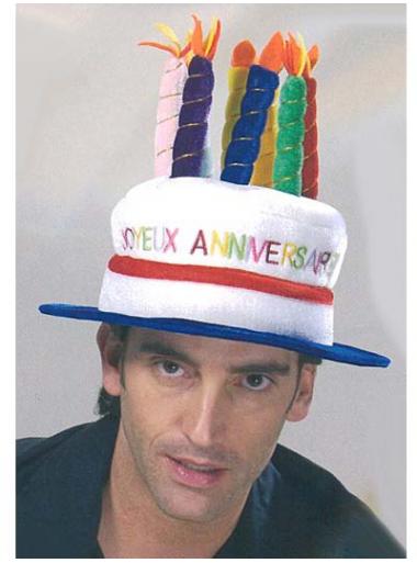 1 Chapeau anniversaire
