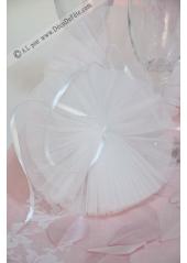 1 guirlande de 5 pompons de tulles blanc