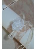 6 Fleurs organza blanches