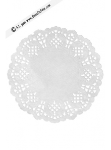 10 napperons papier BLANC 35cm