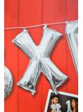1 ballon fun LETTRE X ARGENT