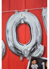 1 ballon fun LETTRE Q ARGENT