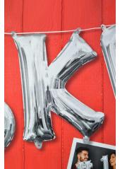 1 ballon fun LETTRE K ARGENT