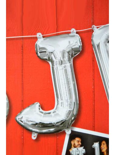 1 ballon fun LETTRE J ARGENT