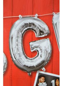 1 ballon fun LETTRE G ARGENT