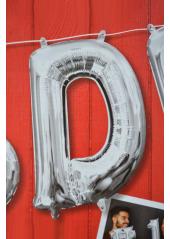 1 ballon fun LETTRE D ARGENT
