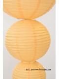 2 Lanternes IVOIRE 30 cm