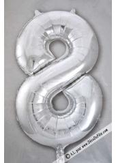 1 ballon funny CHIFFRE 8 ARGENT